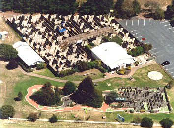 Amaze n Games arial view of maze and mini golf